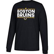 adidas Men's Boston Bruins Dassler Black Long Sleeve Shirt