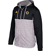adidas Men's Boston Bruins Black/Grey Full-Zip Hoodie