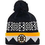 adidas Men's Boston Bruins Ugly Sweater Black Pom Knit Beanie