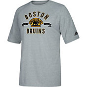 adidas Men's Boston Bruins Misconduct Performance Heather Grey T-Shirt