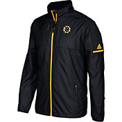 adidas Men's Boston Bruins Authentic Rink Black Full-Zip Jacket