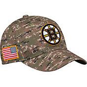 adidas Men's Boston Bruins Camo Structured Fitted Flex Hat