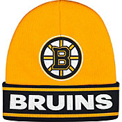 adidas Men's Boston Bruins Logo Red Knit Beanie