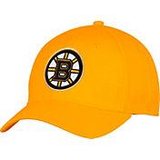 adidas Men's Boston Bruins Alternate Colored Basic Structured Gold Flex Hat