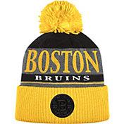 adidas Men's Boston Bruins Heather Grey Pom Knit Beanie