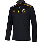 adidas Men's Boston Bruins Black Performance Quarter-Zip Jacket