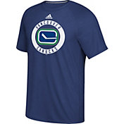adidas Men's Vancouver Canucks Practice Ultimate Royal Performance T-Shirt