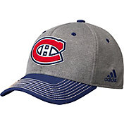 adidas Men's Montreal Canadians Two-Color Heather Grey/Navy Snapback Adjustable Hat