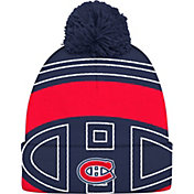 adidas Men's Montreal Canadiens Logo Navy Pom Knit Beanie