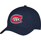 adidas Men's Montreal Canadiens Team Colored Basic Structured Navy Flex Hat