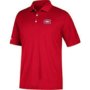 adidas Men's Montreal Canadiens Red Performance Polo