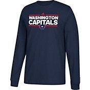 adidas Men's Washington Capitals Dassler Navy Long Sleeve Shirt