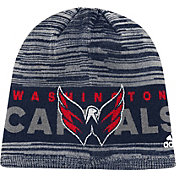 adidas Men's Washington Capitals Locker Room Navy Knit Beanie