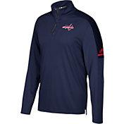 adidas Men's Washington Capitals Authentic Pro Navy Quarter-Zip Jacket
