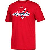 adidas Men's Washington Capitals Big Logo Red T-Shirt