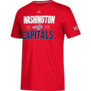 adidas Men's Washington Capitals Centennial Lining Red Performance T-Shirt