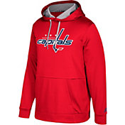 adidas Men's Washington Capitals Red Performance Pullover Hoodie