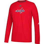 adidas Men's Washington Capitals Primary Position Ultimate Red Long Sleeve Shirt