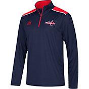 adidas Men's Washington Capitals Navy Performance Quarter-Zip Jacket