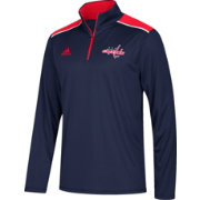 adidas Men's Washington Capitals Navy Performance Quarter-Zip Jacket