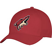 adidas Men's Arizona Coyotes Team Colored Basic Structured Maroon Flex Hat
