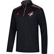 adidas Men's Arizona Coyotes Black Performance Quarter-Zip Jacket