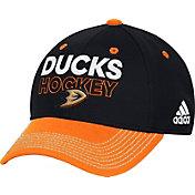 adidas Men's Anaheim Ducks Locker Room Black Structured Fitted Flex Hat