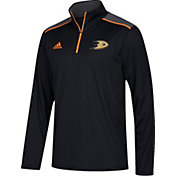 adidas Men's Anaheim Ducks Black Performance Quarter-Zip Jacket