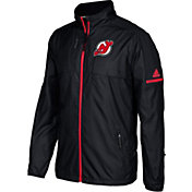 adidas Men's New Jersey Devils Authentic Rink Black Full-Zip Jacket