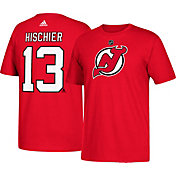 adidas Men's New Jersey Devils Nico Hischier #33 Red T-Shirt
