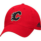 adidas Men's Calgary Flames Basic Red Slouch Adjustable Hat