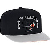 adidas Men's Philadlephia Flyers Flat Brim Black Snapback Adjustable Hat