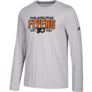 adidas Men's Philadelphia Flyers Go-To Established Grey Performance Long Sleeve Shirt