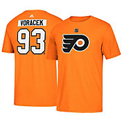 adidas Men's Philadelphia Flyers Jakub Voracek #93 Orange T-Shirt