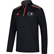 adidas Men's Philadelphia Flyers Black Performance Quarter-Zip Jacket
