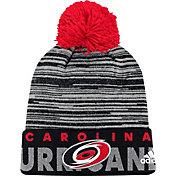 adidas Men's Carolina Hurricanes Locker Room Black Pom Knit Beanie
