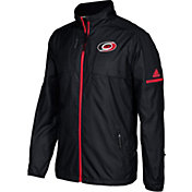 adidas Men's Carolina Hurricanes Authentic Rink Black Full-Zip Jacket