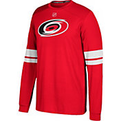 adidas Men's Carolina Hurricanes Jersey Red Long Sleeve Shirt