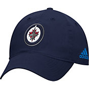 adidas Men's Winnipeg Jets Basic Navy Slouch Adjustable Hat