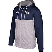 adidas Men's Winnipeg Jets Navy/Grey Full-Zip Hoodie