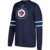 adidas Men's Winnipeg Jets Jersey Navy Long Sleeve Shirt
