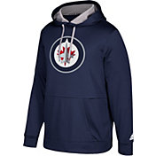 adidas Men's Winnipeg Jets Navy Performance Pullover Hoodie
