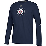 adidas Men's Winnipeg Jets Dassler Ultimate Navy Performance Long Sleeve Shirt