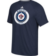 adidas Men's Winnipeg Jets Practice Ultimate Navy Performance T-Shirt