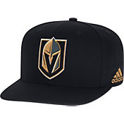 adidas Men's Vegas Golden Knights Structured Black Snapback Adjustable Hat