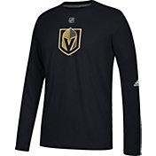 adidas Men's Vegas Golden Knights Primary Position Ultimate Black Long Sleeve Shirt