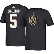 adidas Men's Vegas Golden Knights Deryk Engelland #5 Black T-Shirt
