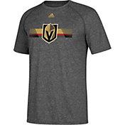 adidas Men's Vegas Golden Knights Resurface Ultimate Grey Performance T-Shirt