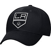 adidas Men's Los Angeles Kings Logo Team Colored Basic Structured Black Flex Hat