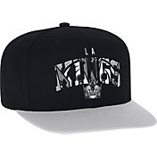 adidas Men's Los Angeles Kings Flat Brim Black Snapback Adjustable Hat